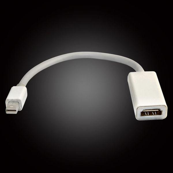 Nouveau DHC gratuit 15CM Mini DisplayPort Display Port DP Thunderbolt vers Femelle HDMI HD Adaptateur Câble pour Apple iMac Mac Mini Mac Pro MacBook