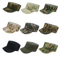 Wholesale Marines Military Hats - Camouflage Outdoor combat Army soldiers cadet sun-shading Hunting Patrol Combat caps Hats for Airsoft Marine Cadet