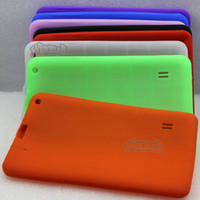 Wholesale A13 Android - DHL 50pcs Multi color Soft silicone Rubber protective cover case for 9 inch A13 A23 Android tablet MID