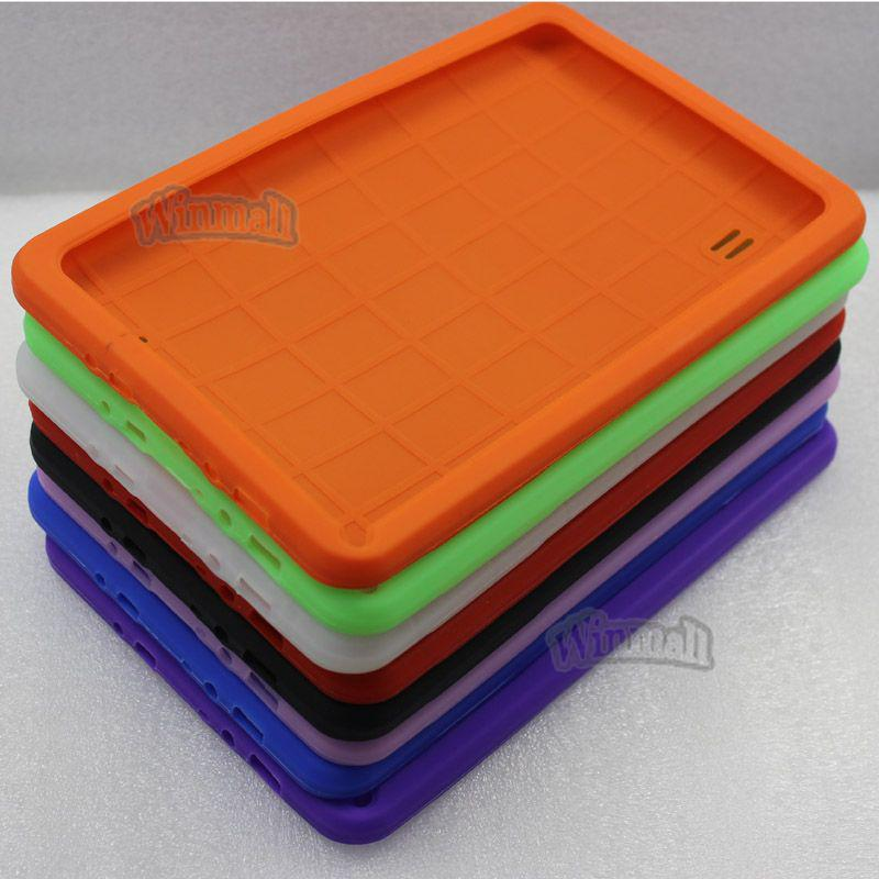 DHL Multi color Soft silicone Rubber protective cover case for 9 inch A13 A23 Android tablet MID