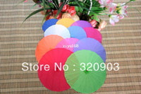 Wholesale White Umbrella Parasol Silk - 10pcs lot free shipping Chinese silk parasol wedding umbrella with several colors available
