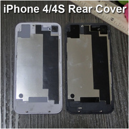 Wholesale Apple Iphone 4s Housing - Glass Rear Cover for iPhone 4 4S Replacement Back Battery Case Door Housing Repair Part for iPhone 4 4S CDMA White Black Free DHL Shipping