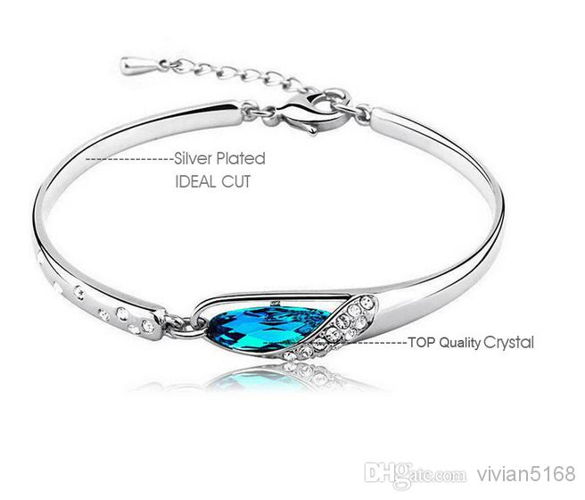 caribbean blue bangle bangles bracelets diamond bracelet white