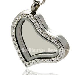 $enCountryForm.capitalKeyWord NZ - Free shipping Crystal heart shape 316L Stainless Steel Floating Charm Locket