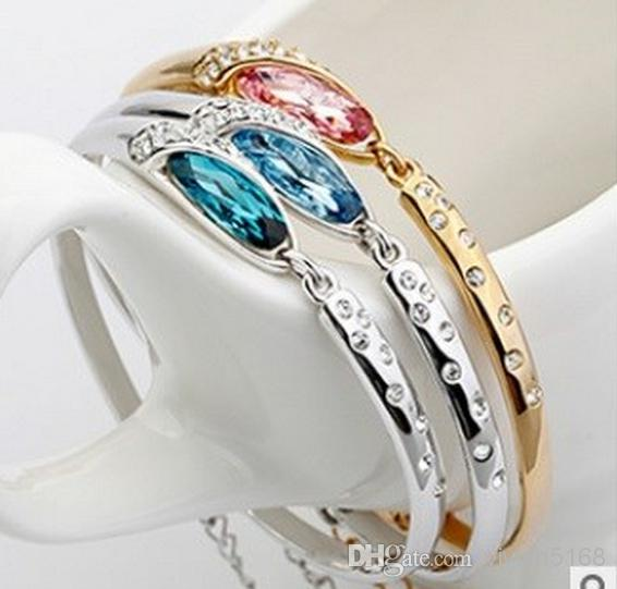 gold bangles shoe women product silver luxury from glass blue bangle custom crystal diamond bracelets charm bracelet austria for fashion