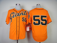 Wholesale Wholesale Sport Jersey Kit - Giants #55 Tim Lincecum Orange Cool Base Jerseys High Quality Authentic Baseball Uniform Kits Hot Sellers Outdoor Sports Wear