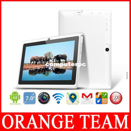 Wholesale Touch Screen Tablet Pc A13 - Wholesale-android 4.0 7 inch tablet pc Allwinner A13 Q88 5 points capacitive Screen+Multi Touch+1.2GHz 512MB 4GB+Wifi+free shipping