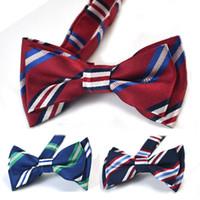 Wholesale Tuxedo Bow Tie Styles - Children Baby School style Adjustable Bow Ties Boys Formal Tuxedo Bowtie Bow Tie Green Kids Wedding Necktie Free Shipping