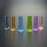Wholesale Accessories Ego Ce4 - E Cigarette Glass EGO 510 Drip Tip Pure 100% Glass Electronic Cigars Accessories Mouthpiece Fit CE4 CE5 Atomizer 510 Clearomizer