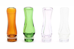 ego t glass tank Promo Codes - Rich Colors Pyrex Glass EGO 510 Drip Tips Small-Bore Glass Drip Tip for EGO T EGO VV EVOD E Cig Tanks E Cigarettes Atomizer Mouthpieces