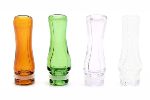 Rich Colors Pyrex Glass EGO 510 Drip Tips Pequeño-Bore Glass Drip Tip para EGO T EGO VV EVOD E Cig Tanks E Cigarettes Atomizer Mouthpieces
