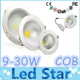 """Wholesale Power Chips - Warranty 2 Years + 9W 12W 15W 18W 25W Dimmable Led Downlights 3"""" 4"""" 5"""" 6"""" 8"""" COB Chip CRI>85 Cool Warm White AC 85-265V + Power Drivers"""