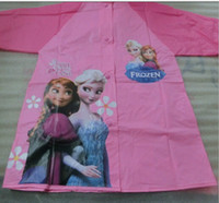 frozen princess raincoat achat en gros de-2,014 Frozen Frozen Raincoat princesse Elsa Anna Enfants Imperméable série Frozen NOUVEAU Arrivée gelé Enfants Imperméable