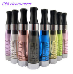 Wholesale Ce4 Clearomizer Wicks - CE4 Clearomizer Atomizer Cartomizer also ce4-t ce5 ce6 Tank clear 1.6ml Vaporizer long wick wicks ce 4 for eGo-T EGO k Battery DHL EMS