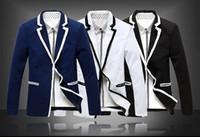 Wholesale Blue Blazer Sale - Hot sale Men Casual Blazer Coat Jacket Striped men's fashion classic fashion Slim men outerwear suits Free Shipping