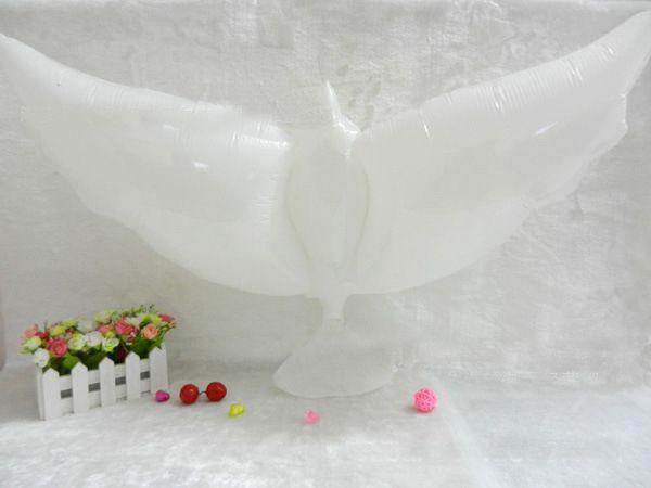 Decorazione di nozze Bianco colomba Balloon Bianco Bianco Balloons Eco-friendly Biodegradabile Aerostato Elio Balloons Party Bombonchi /
