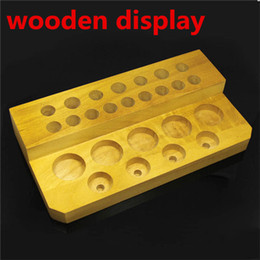 Wholesale Wooden display rack display stand showcase wood display shelf retail store VS acrylic displayer case for ego mech mechanical mod eliquid DHL
