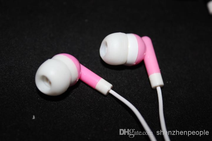Trasduttore auricolare stereo gli earbuds dello smartphone nello stile dell'orecchio la cuffia del telefono cellulare cinque colori che spedice liberamente