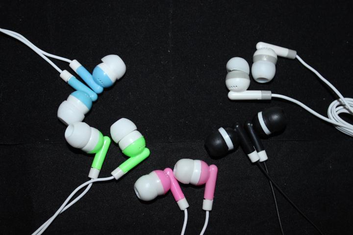 سماعة ستيريو ل سماعات الهاتف المحمول في الأذن نمط للهاتف المحمول سماعة خمسة ألوان 2000 قطع dhl فيديكس شحن مجاني