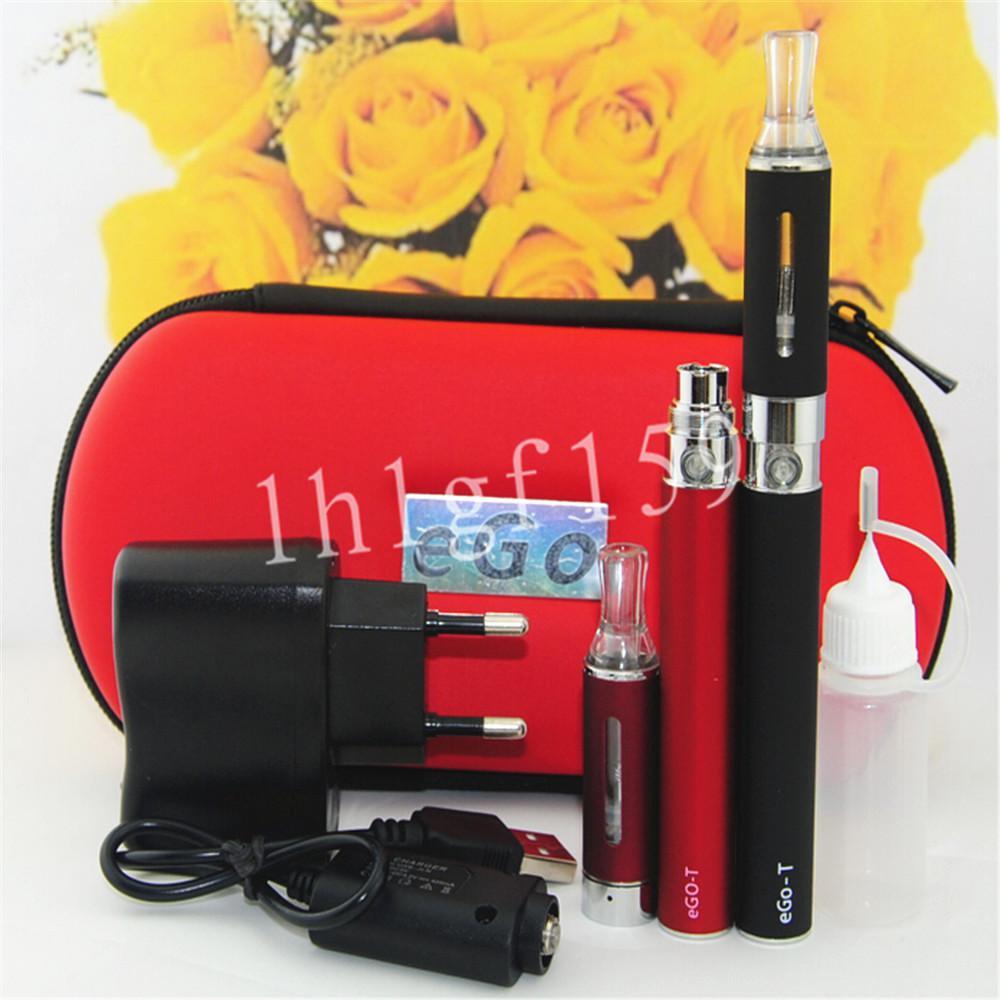E-Cigarette EGO MT3 Starter kit E-cig Kits EGO-T kit Double cigarettes Zipper Case Pack Various Colors 650/900/1100mah ego kits DHL