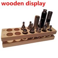 e saft schaufenster großhandel-Holz Display Regal Display Schaufenster Holz Display Regal Einzelhandelsgeschäft VS Acryl Displayer Fall für E-Liquid e-Saft Patriot Omega t