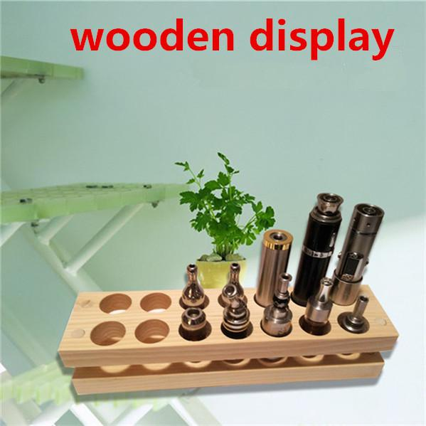 Wooden display rack display stand showcase wood display shelf retail store VS acrylic displayer case for e-liquid e-juice Patriot omega t