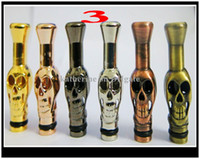 Wholesale E Cigarette Skull Head - Metal Drip Tip Mouthpiece E cigarette Skull Drip Dragon Head animals shape for eGo EE2, Vivi Nova DCT Atomizer AAA quality DHL free