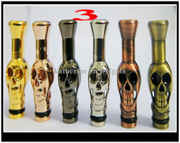 Wholesale Ego Ee2 Skull Drip Tip - Metal Drip Tip Mouthpiece E cigarette Skull Drip Dragon Head animals shape for eGo EE2, Vivi Nova DCT Atomizer AAA quality DHL free