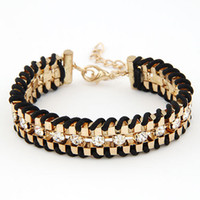 Wholesale Diamond Charms Wholesale - Fashion Charms Gold Diamond Chain Bracelet Multilayer Bracelet for women a497