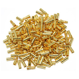 Wholesale Male Bullet Connectors - 100pairs 3.5mm Gold Bullet Connector Male   Female Plug for Battery ESC Motor