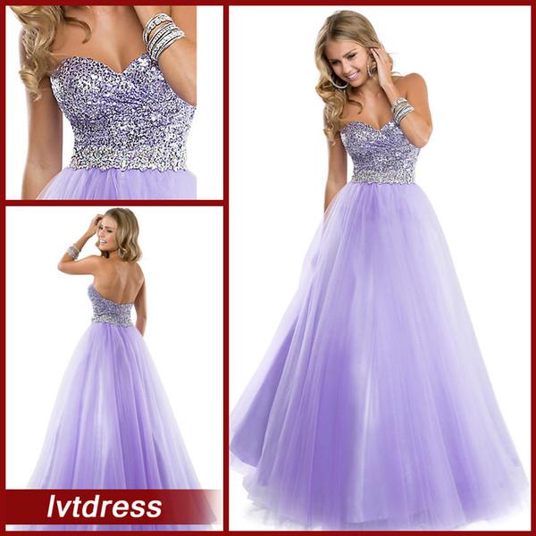 2014 New Custom Light Purple Quinceanera Dresses A Line Sweetheart ...