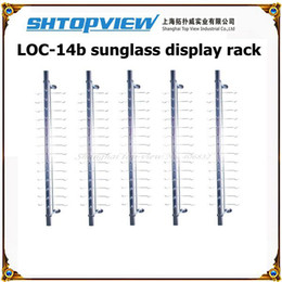 Wholesale Display Rods - NOC-A-14PC-1Aluminum reading and sunglasses display stand rack without lock glasses display shelf eyewear display rod glasses exhibitor rack
