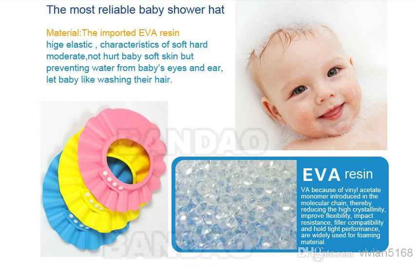 bbe78107513 Adjustable Baby Shower Cap Protect Shampoo for Baby Safety Bath Cap  Children Waterproof Cap Hat Kid Baby Hat Shield Hat Good Quality Baby  Shower Cap Online ...