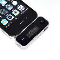 chinesische telefone ios großhandel-DHL Wireless 3,5 mm Universal LCD Stereo Auto FM Radio Sender für iPhone 4S alle Handys / mp3 Freisprecheinrichtung Auto K