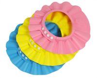 шапочка для душа оптовых-Регулируемая шапочка для душа ребенок дети мыть волосы щит Hat защиты шампунь для здоровья ребенка ванна водонепроницаемый шапочки hat Бесплатная доставка