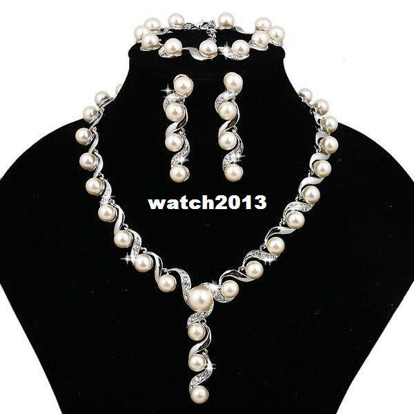 Cheap Pearl Necklace Sets: Online Cheap Wholesale Simulated Pearl Jewelry Sets