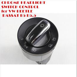 Wholesale Passat B5 Headlights - CHROME HEADLIGHT SWITCH CONTROL for VW BEETLE PASSAT B5 B5.5 JETTA GOLF MK4 BORA top sale free shipping