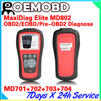 Wholesale Autel Ds - Original Autel Elite Maxidiag MD802 md 802 Full System Auto Diagnostic Tool DS+EPB+OLS obd2 Update Online