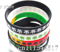 Wholesale Silicone Bracelet Mix Color - Free Shipping new 50 pcs alot Bob Marley Wristband Silicone Bracelets for men Lots Mix color