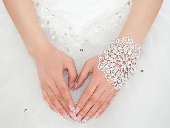 2020 Yeni Ayarlanabilir Gelin Takı Gelin Armlet'ı Zinciri Düğün Takı Armbands Lüks Gelin Yapay elmas kristal Saç taç Kadınlar Bileklik