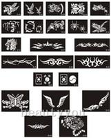 dessins de peinture pour le corps achat en gros de-Pochoirs de tatouage en gros pour différents motifs 500pcs pour la peinture de body art - Airbrush Tattoo - Livraison gratuite