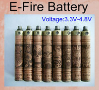 Wholesale wood electronic cigarette battery resale online - New E Fire Wood Mod Variable Voltage Battery Wood E Cigarette X fire Electronic Cigarette Xfire Rebuildable E Cig Battery VV Mod TZ032
