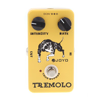 Wholesale Electric Guitar Yellow - Joyo JF-09 Tremolo Guitar Violao Effect Pedal True Bypass for Musical Instrument Yellow Electronic 2014 New Top Quality I275