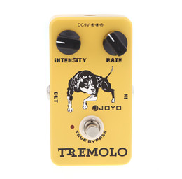 Wholesale Pedal Guitar New - Joyo JF-09 Tremolo Guitar Violao Effect Pedal True Bypass for Musical Instrument Yellow Electronic 2014 New Top Quality I275