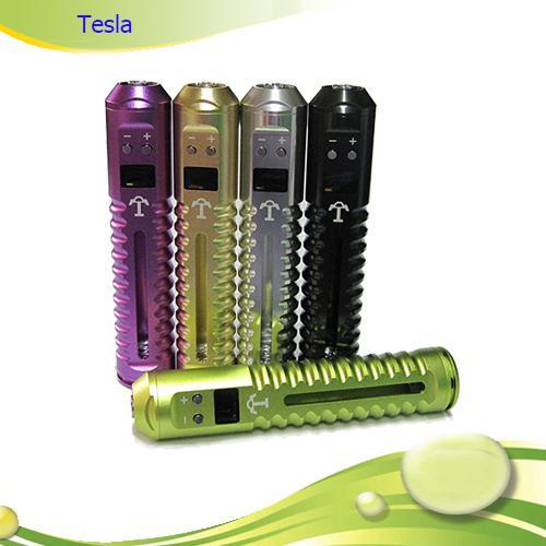 Most huge Vapor Variable Voltage Ecig 2200mAh Tesla E Cigarette Adjustable3.0v-6.0v PK Itaste VV