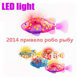 Envío gratis 8 colores LED Fish Electronic Swimming Fish Magical Robo 2013 Nuevo Robot fish Activated Turbot electric