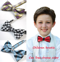 Wholesale Pre Tied Neckties - Pre-tied Adjustable Children Bowtie Bow Tie Baby Boys Turquoise Formal Tuxedo Bow Bowtie With Wedding Party Necktie White W Black Dot