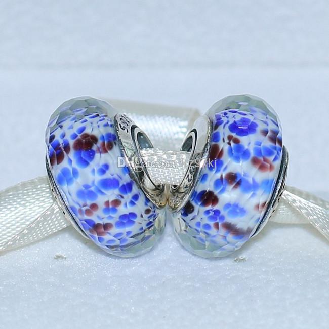 5 stücke 925 Sterling Silber Schraube Kern Tiefe Ozean Meer Faszinierende Murano Glasperle Passend Europäischen Pandora Schmuck Armbänder Halsketten