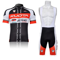 Wholesale Kuota Cycle Jersey - Cheap Men's Short Cycling Suit CLASSIC KUOTA BLACK RED Bike Jersey + Bib Shorts with Gel pad Short Sleeve Bicycle wear maillot