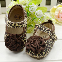 Wholesale Leopard Children Boot - Wholesale - baby leopard shoes baby first walker kids children boots 6pairs lot free shipping